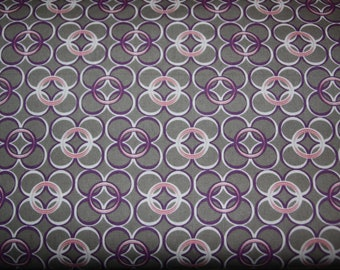 One Yard Art Gallery Coquette Collection Fabric - Mod Rings Slate CO-9208
