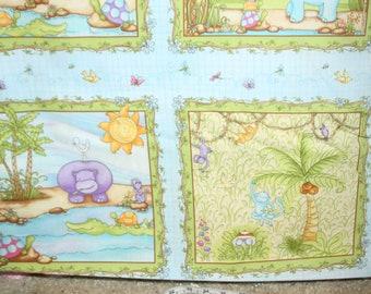 StudioE Fabric - One Yard - Jungle Baby Blue 5785
