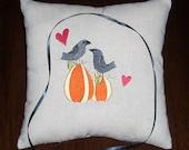 Ring Bearer Pillow Love Crows