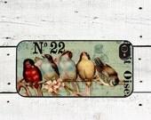 Vintage Birds Phone Case for  iPhone 4 4s 5 5s 5c SE 6 6s 7  6 6s 7 Plus Galaxy s4 s5 s6 s7 Edge