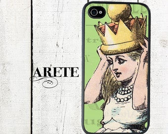 iphone 6 case Alice in Wonderland iPhone Case, Alice Wearing Crown - iphone 4, 4s - iPhone 5 Case - Galaxy s3 s4 s5