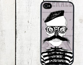 French Skeleton Phone Case for  iPhone 4 4s 5 5s 5c SE 6 6s 7  6 6s 7 Plus Galaxy s4 s5 s6 s7 Edge