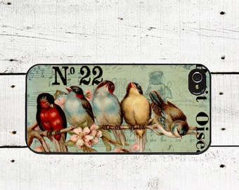 Vintage Birds Phone Case for  iPhone 4 4s 5 5s 5c SE 6 6s 7  6 6s 7 Plus Galaxy s4 s5 s6 s7 Edge