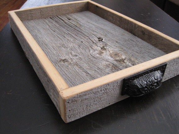 Reclaimed Wood Tray Barn Wood Serving Tray Barn Wood Box