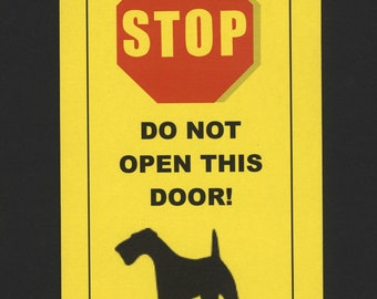 Airedale Lap Dog - Do Not Open This Door