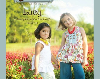 SALE - Lucy pants and capris sewing pattern from Violette Field Threads - sizes 2T - 9/10