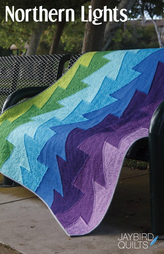 Northern Lights quilt pattern from Jaybird Quilts - baby, lap, twin, queen, king