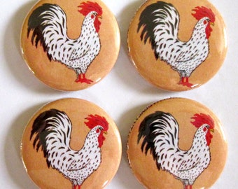 Rooster Magnets (Set of 4)
