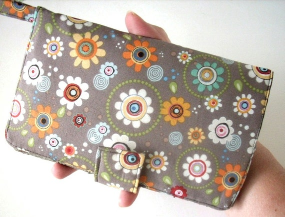 REDUCED Price OOPS item ID Window Business Click-It Wallet New Design Passport Wallet in Groove Flowers