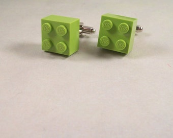 Light Green Building Brick Cuff Links