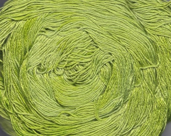 Hand painted Mousou Bamboo yarn, 4 oz, Misty Green