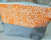 Orange Scruffy Daisy Wash Bag