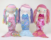 MerMae Mermaid PDF Doll Pattern