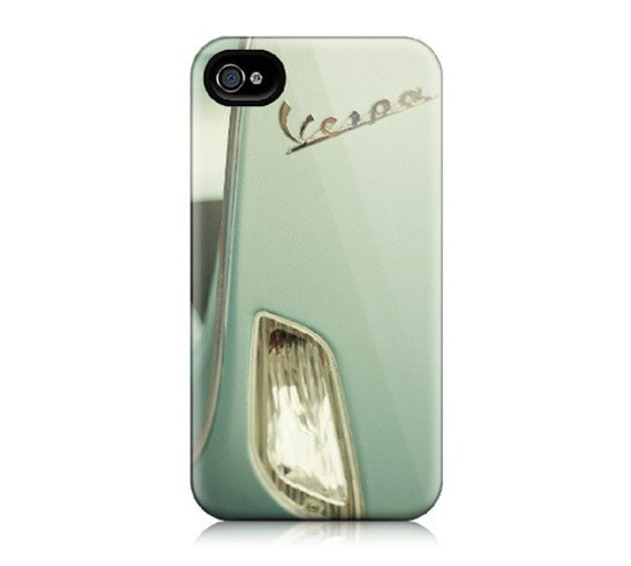 Vespa iPhone 4 Case, iPhone 4S - Mint Condition - Green, Pastel, Scooter, Hipster, Modern, Italian Style