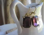 amethyst earrings, vintage purple earrings, Downton Abbey, purple bridal earrings.  Amethyst Evenings.