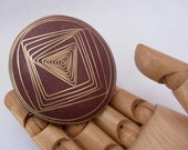Purple heart and brass wood statement ring