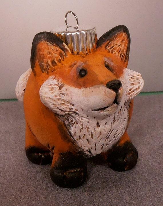 Fox Ornament in Polymer Clay by Darbella Designs