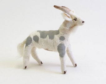 Vintage Inspired Spun Cotton Goat Ornament/Figure