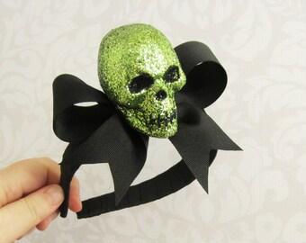 Assorted Glitter Skull Headband