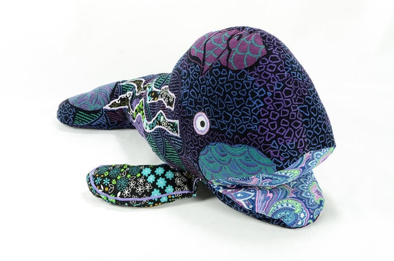 plush corduroy whale of many colors - wavy wade