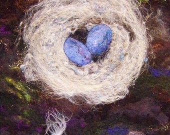No.737 Nest Too - Needlefelt Art XLarge