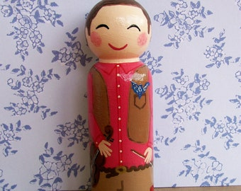 Hand Painted Love Boxes Custom Mormon Pioneer Peg Doll Cake Topper Wood