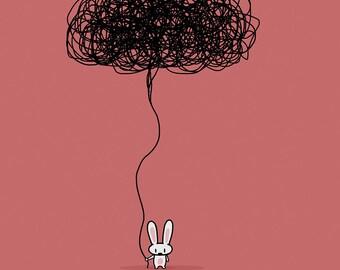 Depression Bunny Greeting Card
