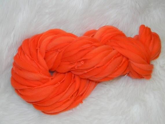 Orange Dream Thick n Thin  Merino 35 Super Bulky yards