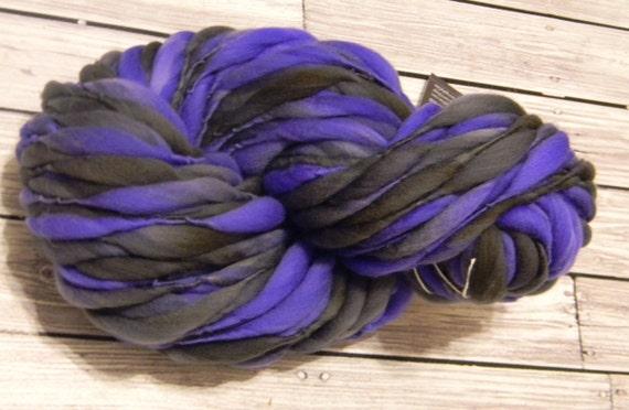 Purple and Gray-Black  Thick n Thin Merino 65 yards 4.2 oz