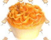Toasted Marshmallow Cupcake Candle Vanilla Caramel Scent