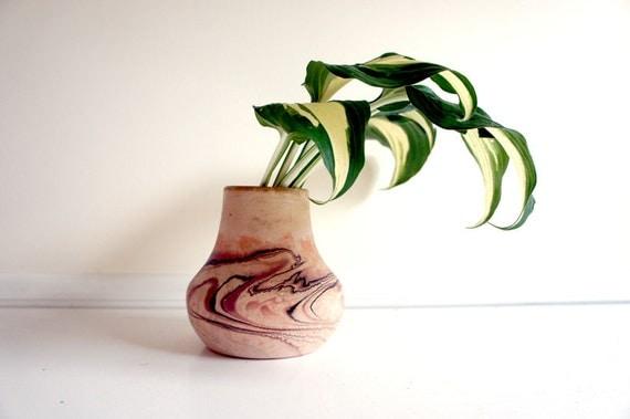 Nemadji Pottery // Marbled Vase