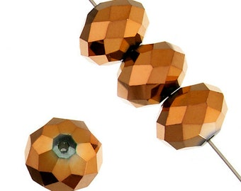 CLEARANCE.. 10mm x 14mm Dazzle-It Ori Crystal Metallic Copper  Beads - 21 Pieces -0361