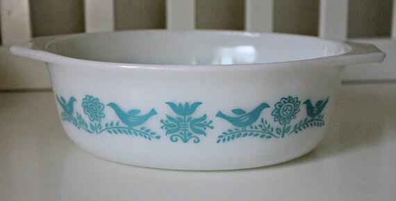 Pyrex Promotional Bluebird Casserole Dish
