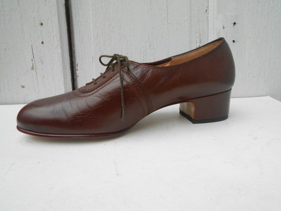Vintage Oxfords Shoes Nerd Librarian 1960s Like New Size 9 9.5