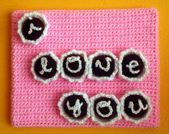I LOVE YOU Chocolate Truffle Box - Crochet Painting