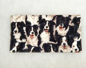 Checkbook Cover - Border Collie