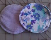 Flowers with Lavendar Nursing Pads