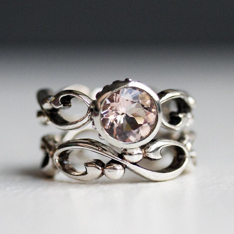 zoom - Morganite Wedding Ring
