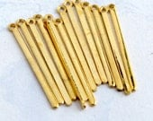 LAST Set - Vintage Gold Plated Stick Drop Charms (12X) (M874)