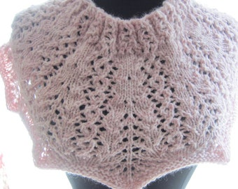Light Pink Neck Scarf Lace Cowl