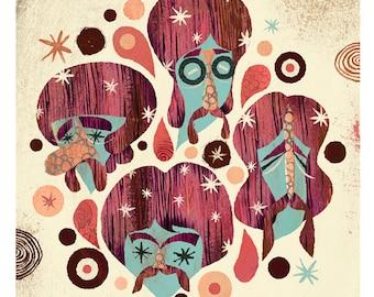 The Four Mustaches (Grapefruit Version)