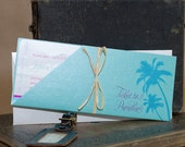 Vintage Palm Tree Boarding Pass Save the Date (Mexico) - Design Fee