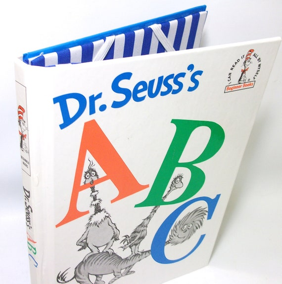 IPad Mini Cover or Cover for Kindle Nook or Kobo  made from a Dr. Seuss ABC Book - Tablet Device Case