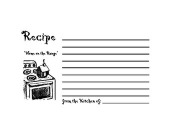 RETIRED Home on the Range Recipe Card Rubber Stamp