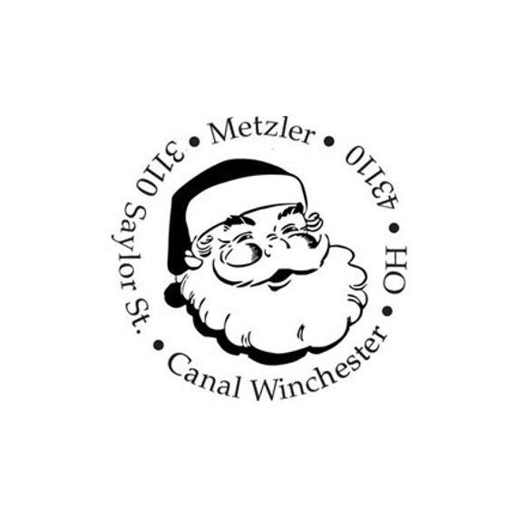 Santa claus christmas return address custom rubber stamp for your xmas