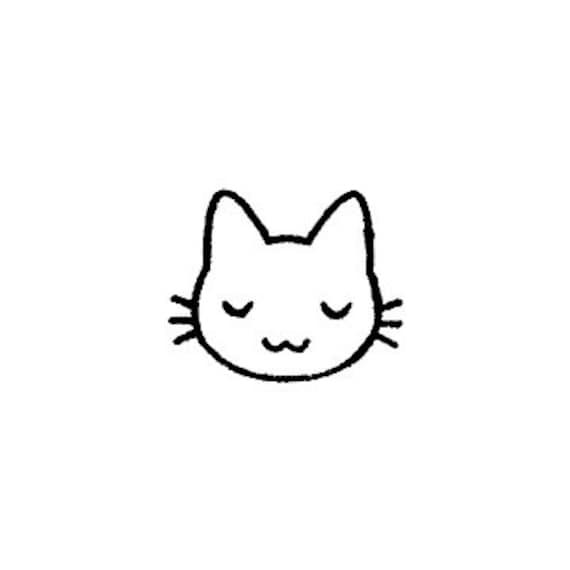 Cute Mini Kawaii Japanese Cat Kitty Rubber Stamp