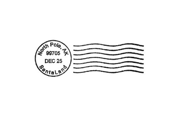 North Pole Santa Postmark for Christmas Rubber Stamp by terbearco