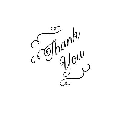 Wedding Thank You Calligraphy Thank You Rubber Stamp