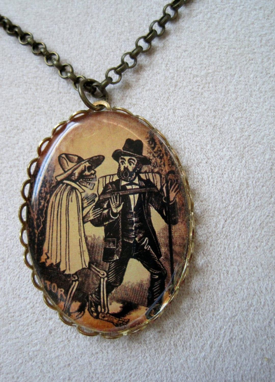day of the dead necklace calavera jewelry calavera necklace