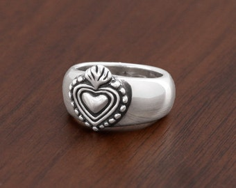 """New"""""""""""" Milagro Heart Ring in sterling silver"""